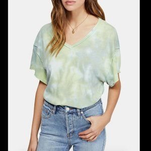 Free People Women's Green All Mine Tie Dyed Top